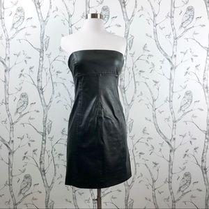 Zara Basic strapless faux leather tube dress M